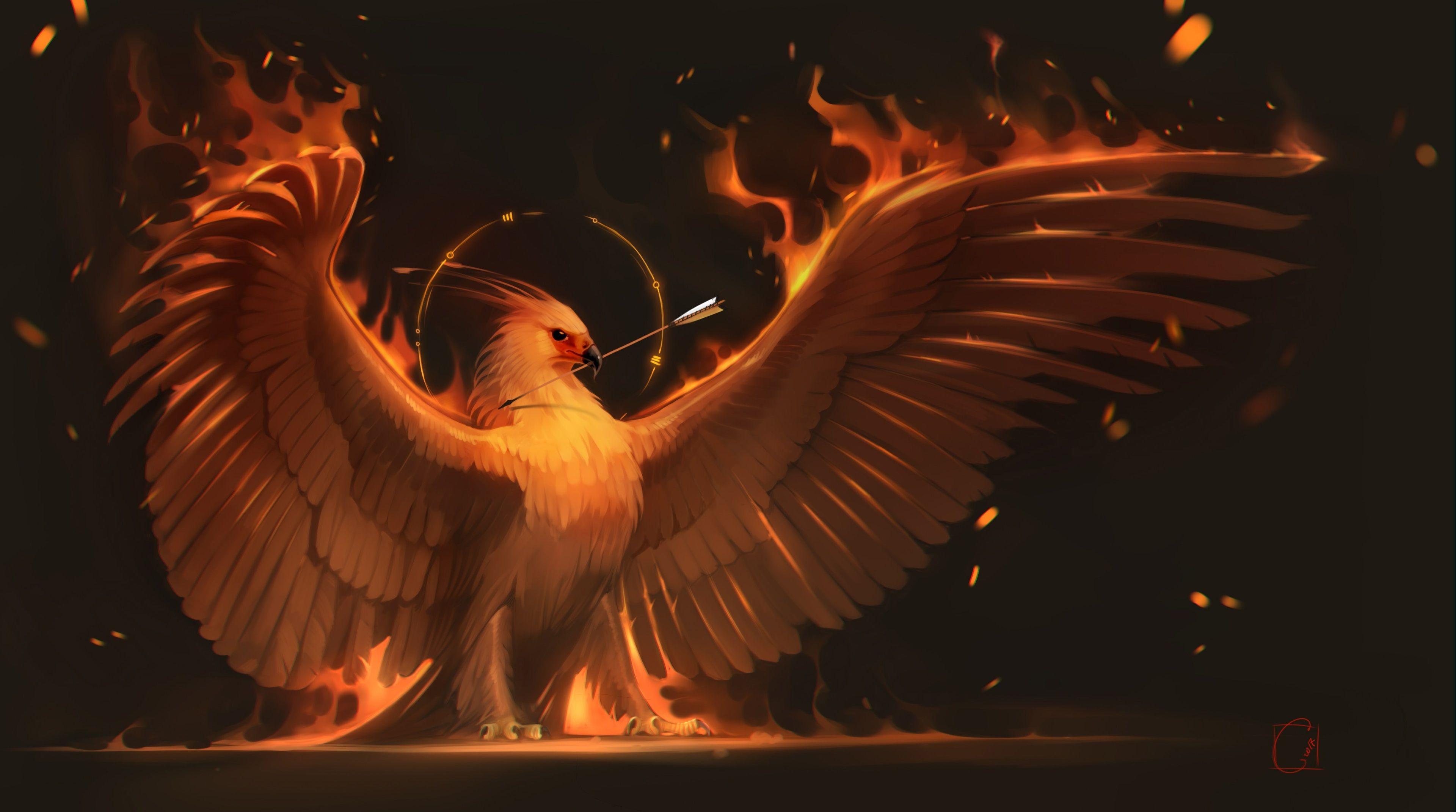 Phoenix Bird Wallpaper 4k