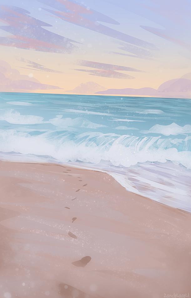 ZandraArt — into the ocean