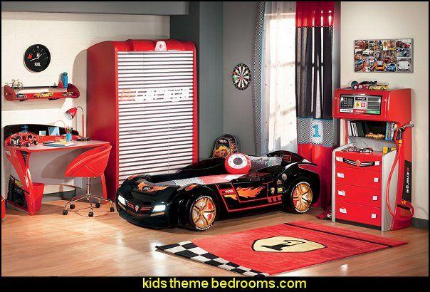 Need for Sleep Turbo Study Writing Desk racing car themed bedroom furniture