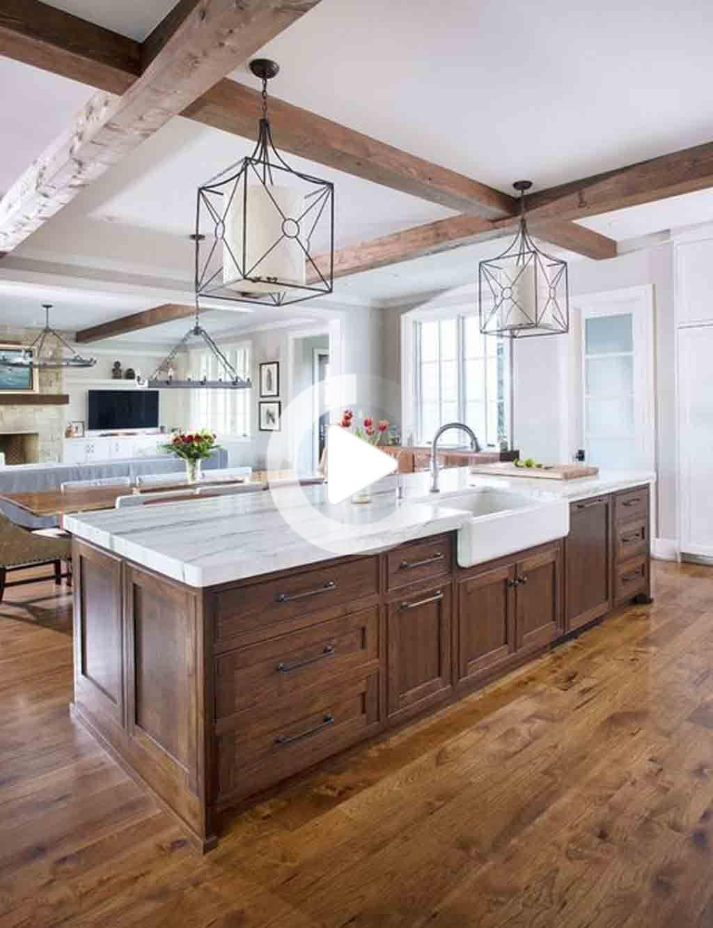 The Best Wall Colors To Update Stained Cabinets In 2020 Unfinished Kitchen Cabinets Rustic Kitchen Design Interior Design Kitchen