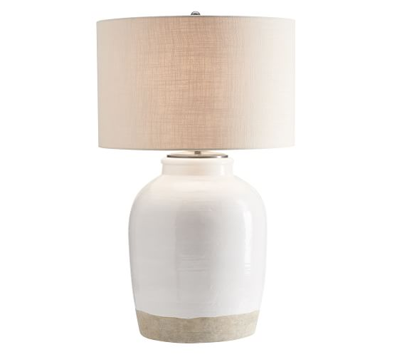 Miller Ceramic Table Lamp Ivory, Ivory Ceramic Table Lamps