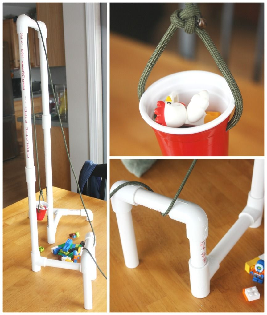 Simple machines project ideas - Pvc Pipe Pulley System For Kids Simple Machine