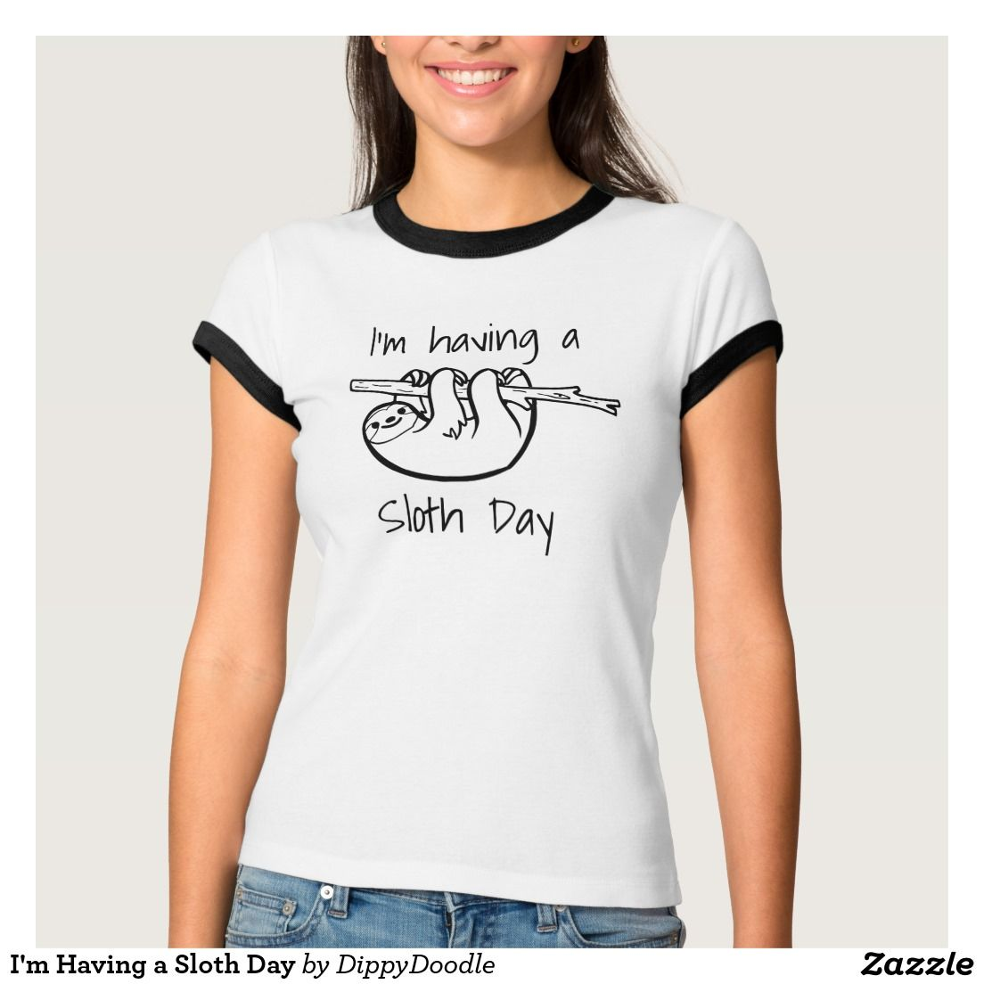 I'm Having a Sloth Day. Funny slogan t-shirt for lazy days when you don't intend to do anything more strenuous than making a cup of tea...or you simply love sloths.