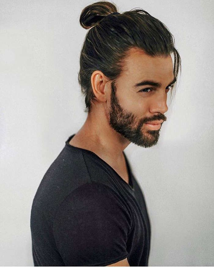 Glorious Ponytail Hairstyles For Men 30 Man Ponytail Mens Ponytail Hairstyles Long Hair Styles Men