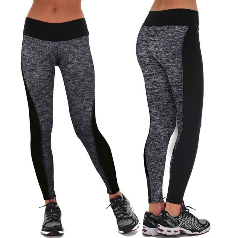 Trwala 2016 Kobiet Treningowe Spodnie Hot Sprzedaz Fitness Legginsy Spodnie Patchwork Wysoka Tal Sports Trousers Leggings Are Not Pants Women S Sports Trousers
