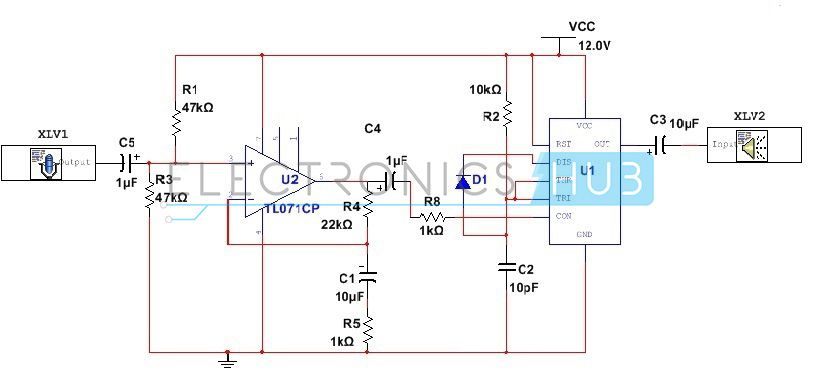 Low Power Audio Amplifier Using 555 Timer With Images Audio