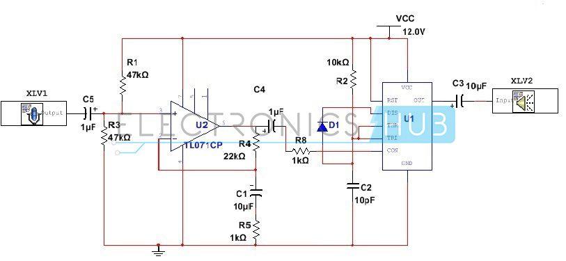 555 Timer As An Amplifier Elektronika Pinterest Audio