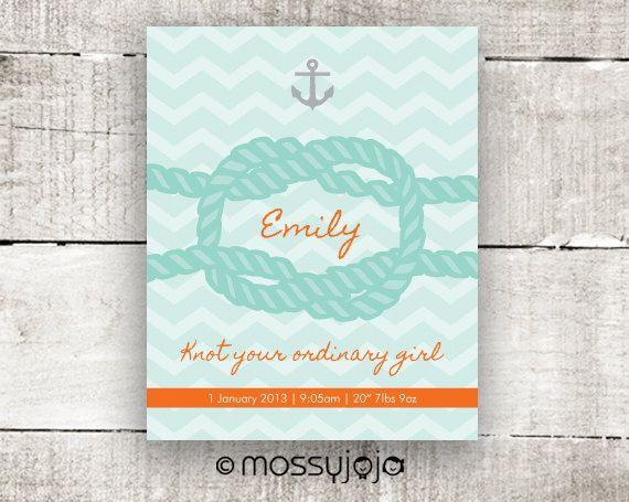 Nautical knot nautical nursery personalized baby gift by mossyjojo nautical knot nautical nursery personalized baby gift by mossyjojo 2500 negle Gallery