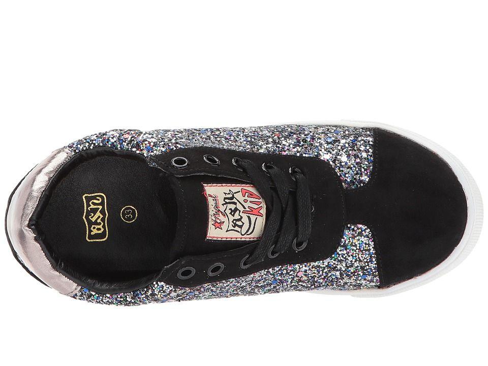 ASH Kids Low Star (Little Kid/Big Kid) Girl's Shoes Black Gunmetal