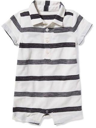 2493da4f5 Striped Polo One-Piece for Baby   Boy's clothes   Baby boy clothes ...
