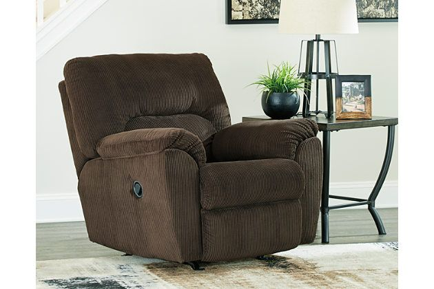 Hopkinton Recliner by Ashley HomeStore, Brown, Polyester (100 %)