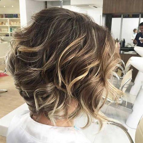 Curly Short Layered Bob Blonde Balayage Highlights Short Hair
