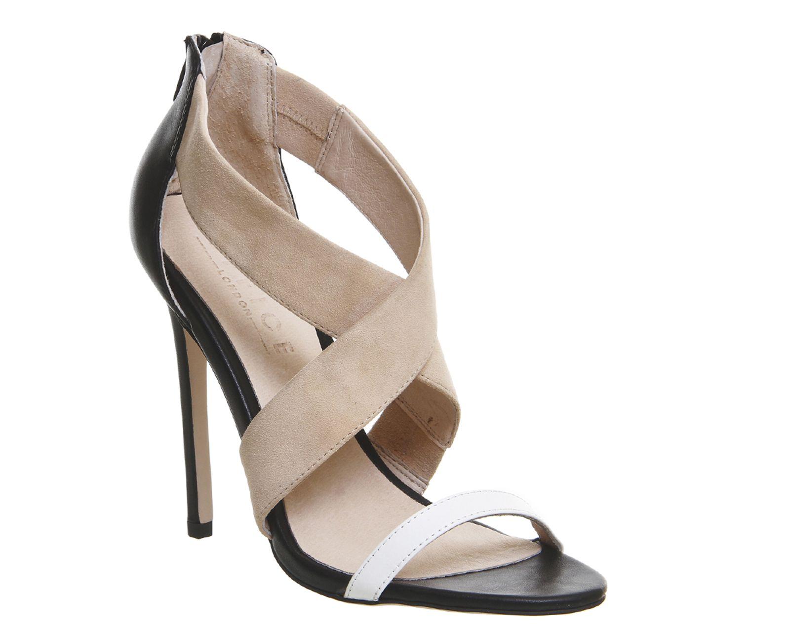 617ee80a1232 Buy Multi Leather Office Allure Cross Strap Heels from OFFICE.co.uk ...