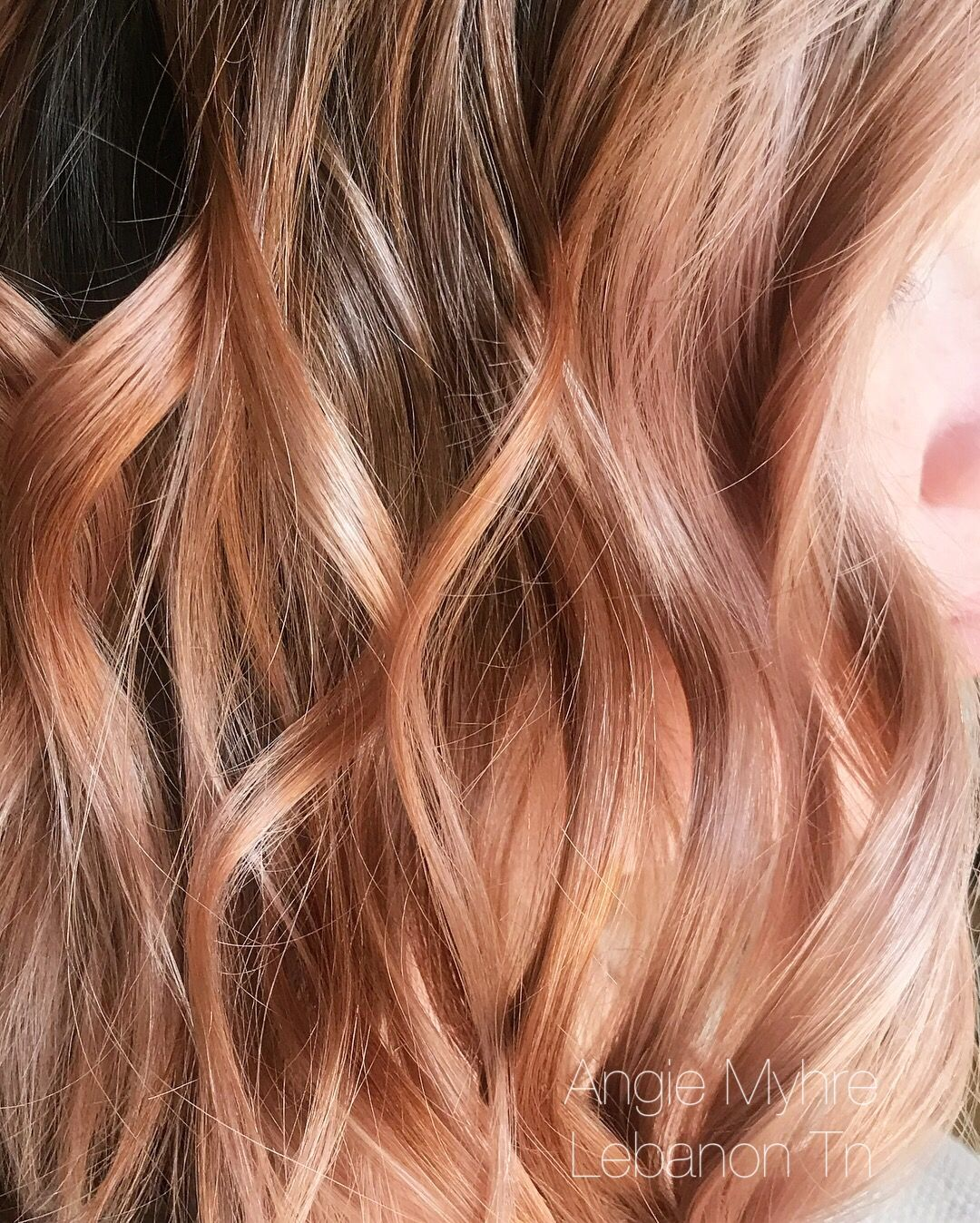 Rose gold hair pinterest