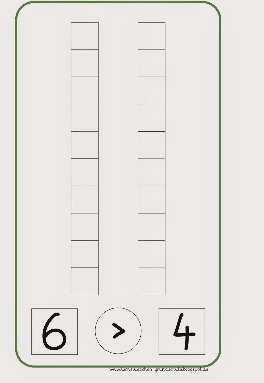 größer - kleiner - gleich (Tafelmaterial) | School