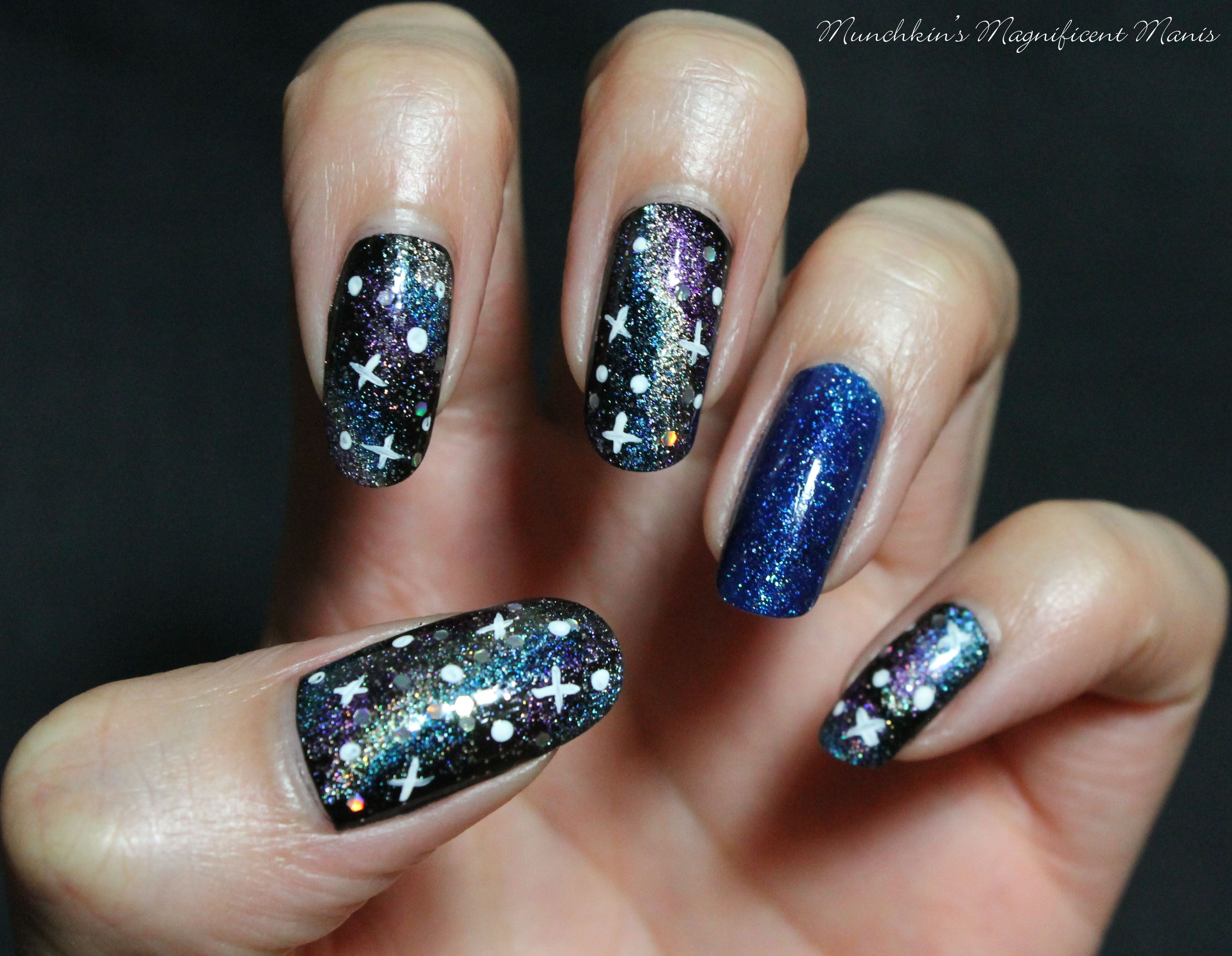 Galaxy nail design zoya dream on ring finger nail munchkins galaxy nail design zoya dream on ring finger nail prinsesfo Gallery