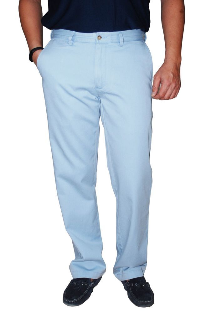 Polo Ralph Lauren Men's Classic Fit Flat Front Chino Pants , Soft Sky Blue  30x30   Polo ralph lauren, Chinos and Polos