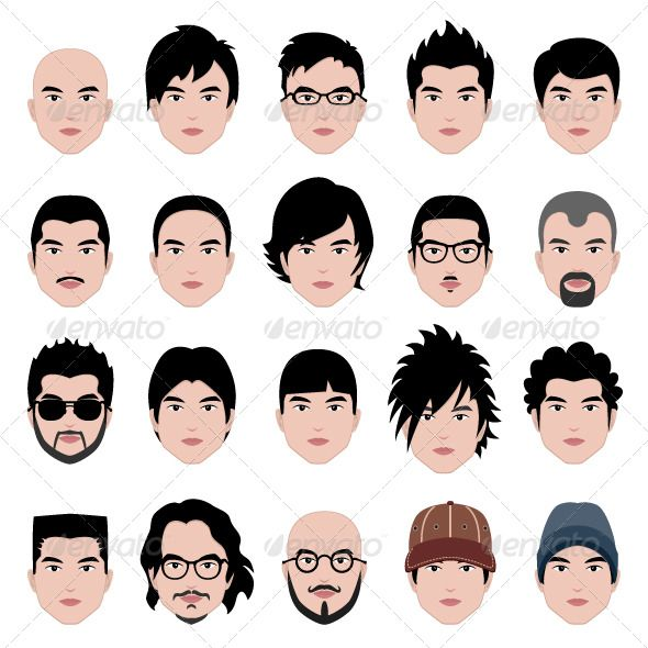 Male Man Hair Hairstyle Vector Eps Hairstyle Men Download Here Https Graphicriver Net Item Male Man Hairstyle Names Haircut Names For Men Hair Vector