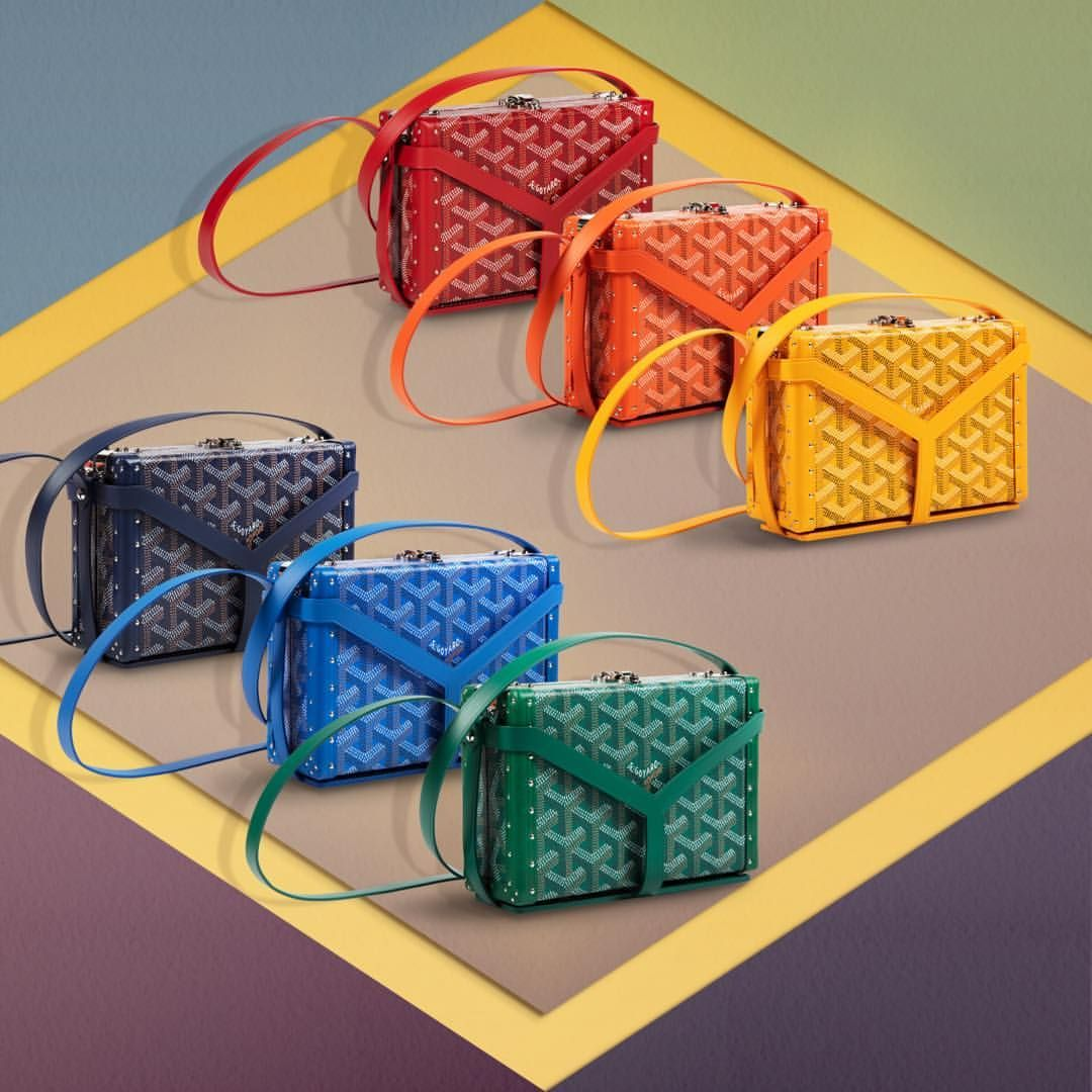 Our Instantclassic The Minaudierecase Is Now Available In 8 Additional New Colours For A Very Goyard Rainbow Of 12 Vibrant Hu Goyard Goyard Bag Goyard Tote