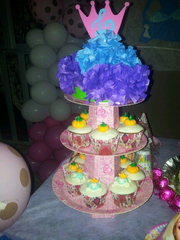 Cupcakes carruagem e abobora #Cinderela