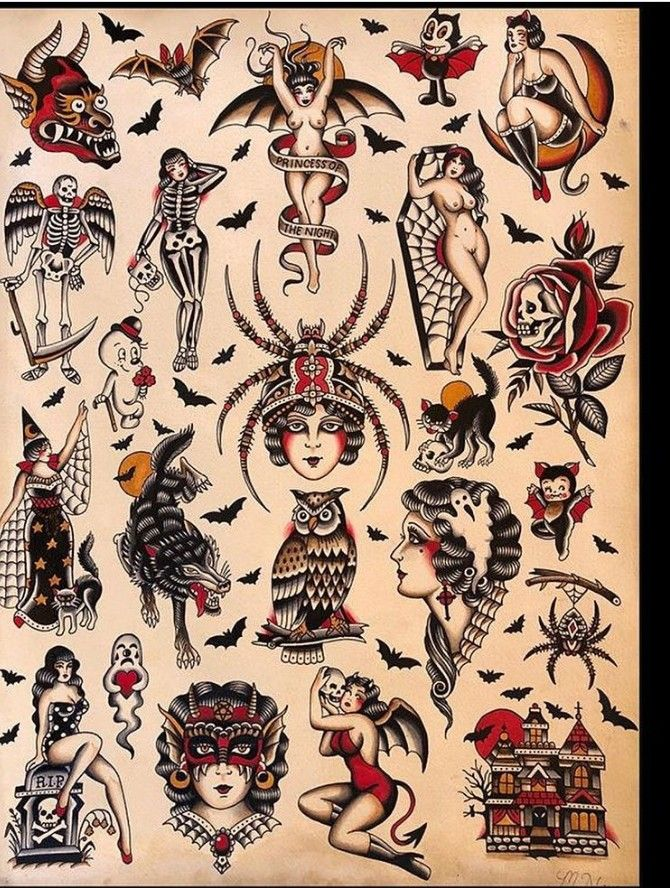 Pin By Thekarbitz On Flash Sheets Traditional Tattoo Traditional Tattoo Sleeve Traditional Tattoo Art
