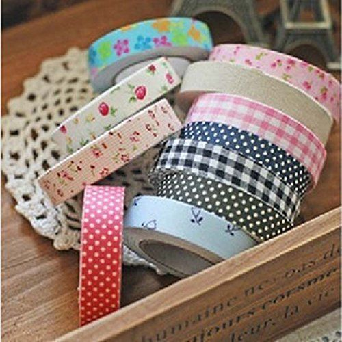 Scotch Decorative Masking Tape Fabric Washi Tape Roll Decorative Sticky Cotton Adhesive Craft  I