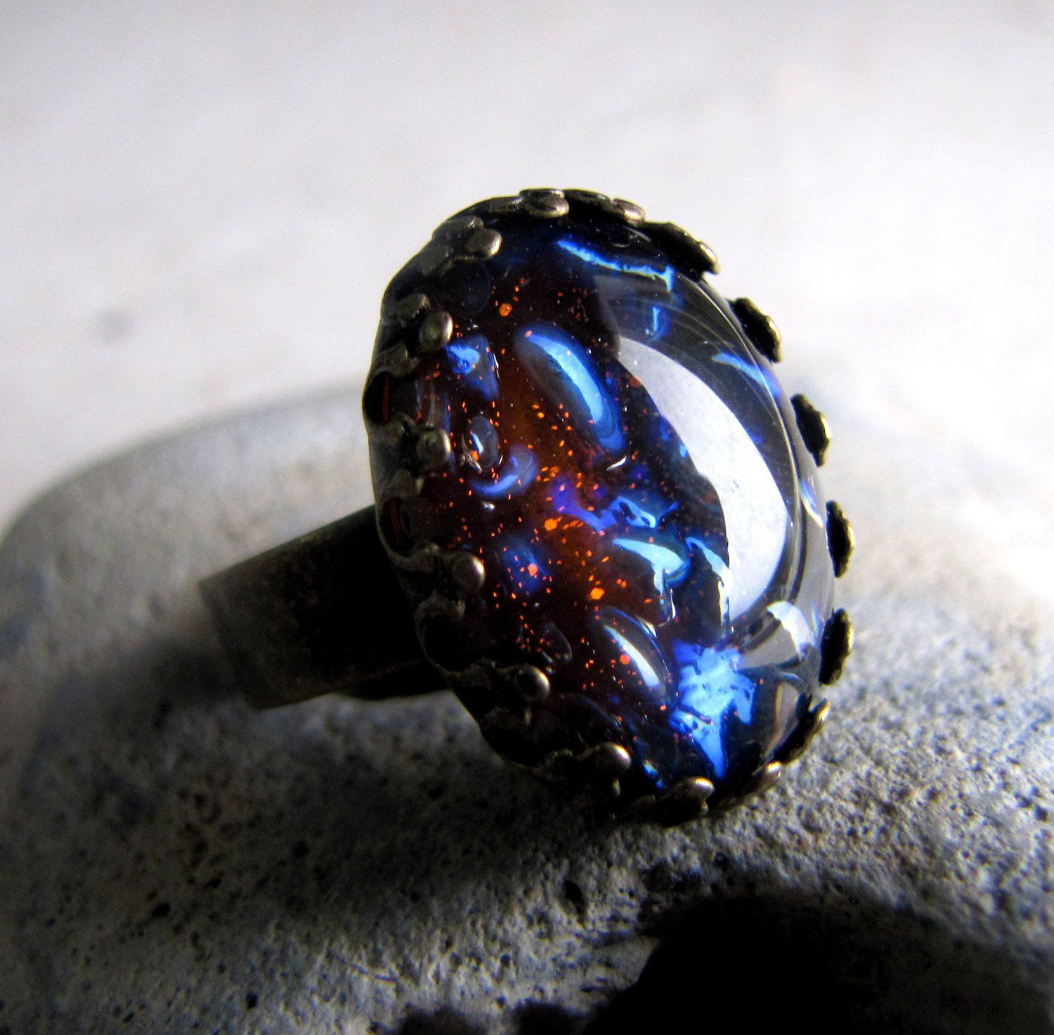 black opal rings request a custom order and have something made just for you - Black Opal Wedding Rings