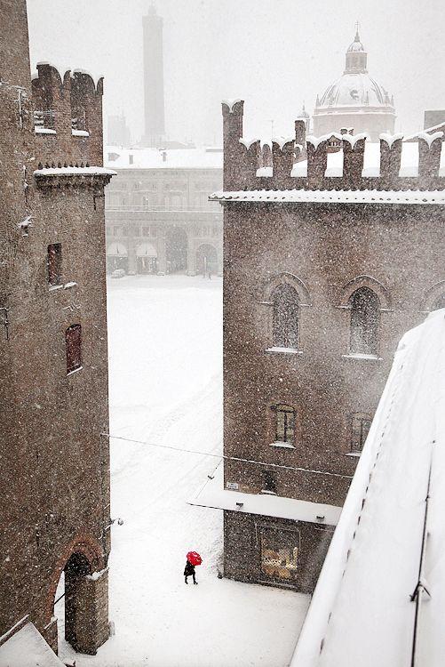 Snowy Day, Bologna, Italy