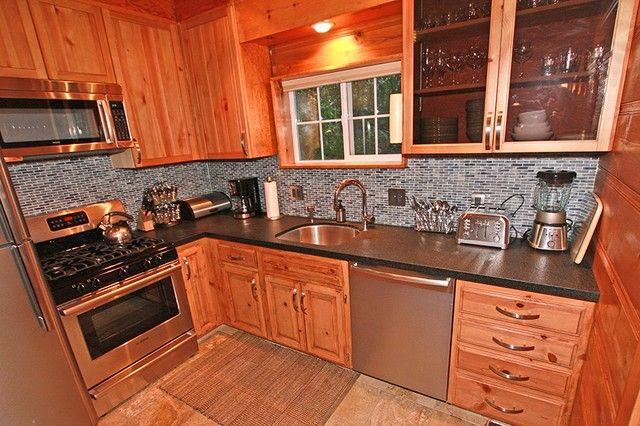 Kitchen W Stainless Steel Appliances Black Leather
