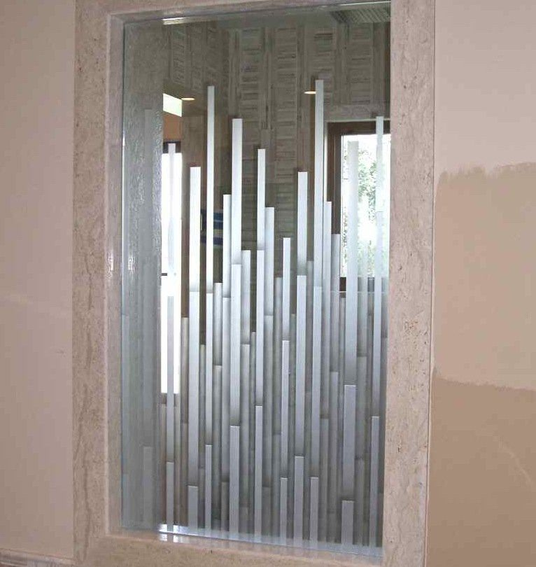 Mosaics Glass Shower Doors Etched Glass Moroccan Style Frosted