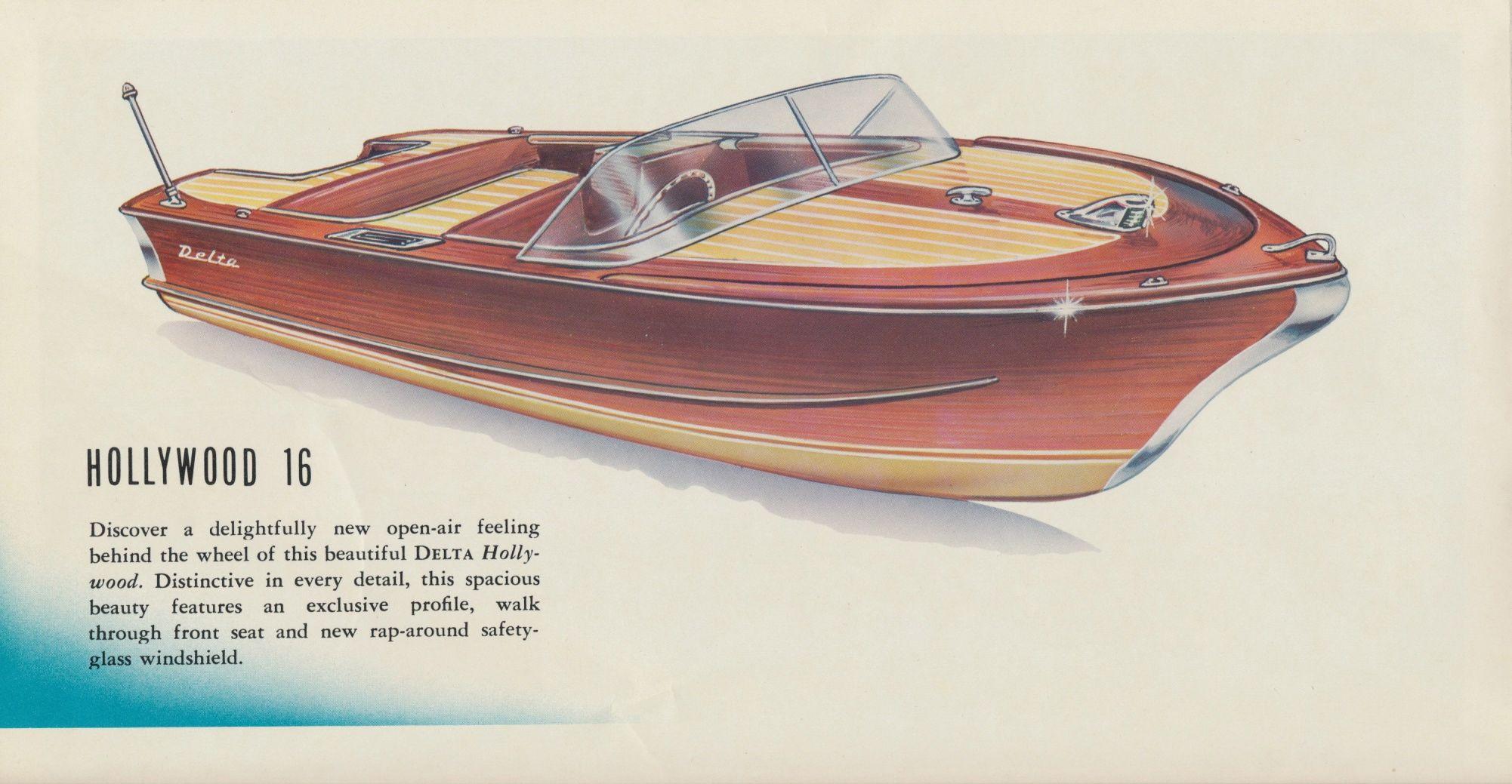 1959 sales brochure Mahogany boat, Classic wooden boats