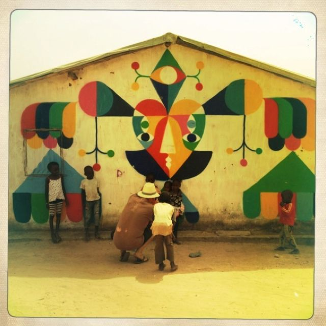 Wide Open Walls - rural community project in Gambia