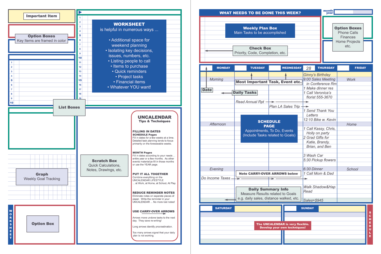 Uncalendar Weekend plans, How to plan, Weekly planning