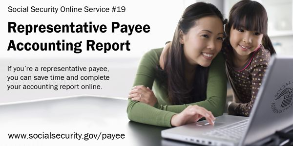 Social Security representative payees can complete the accounting - accounting form