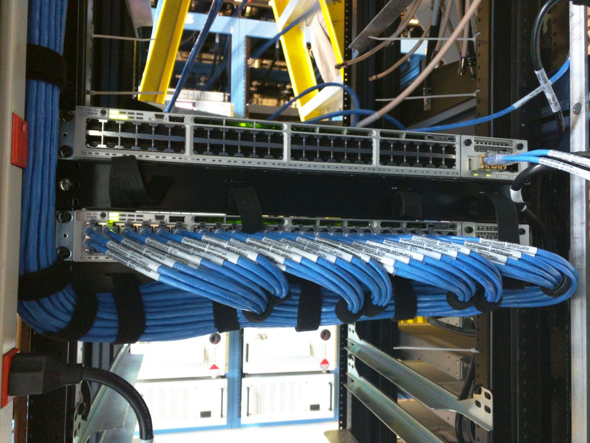 hight resolution of network cable in data closet setting up a small business cisco network