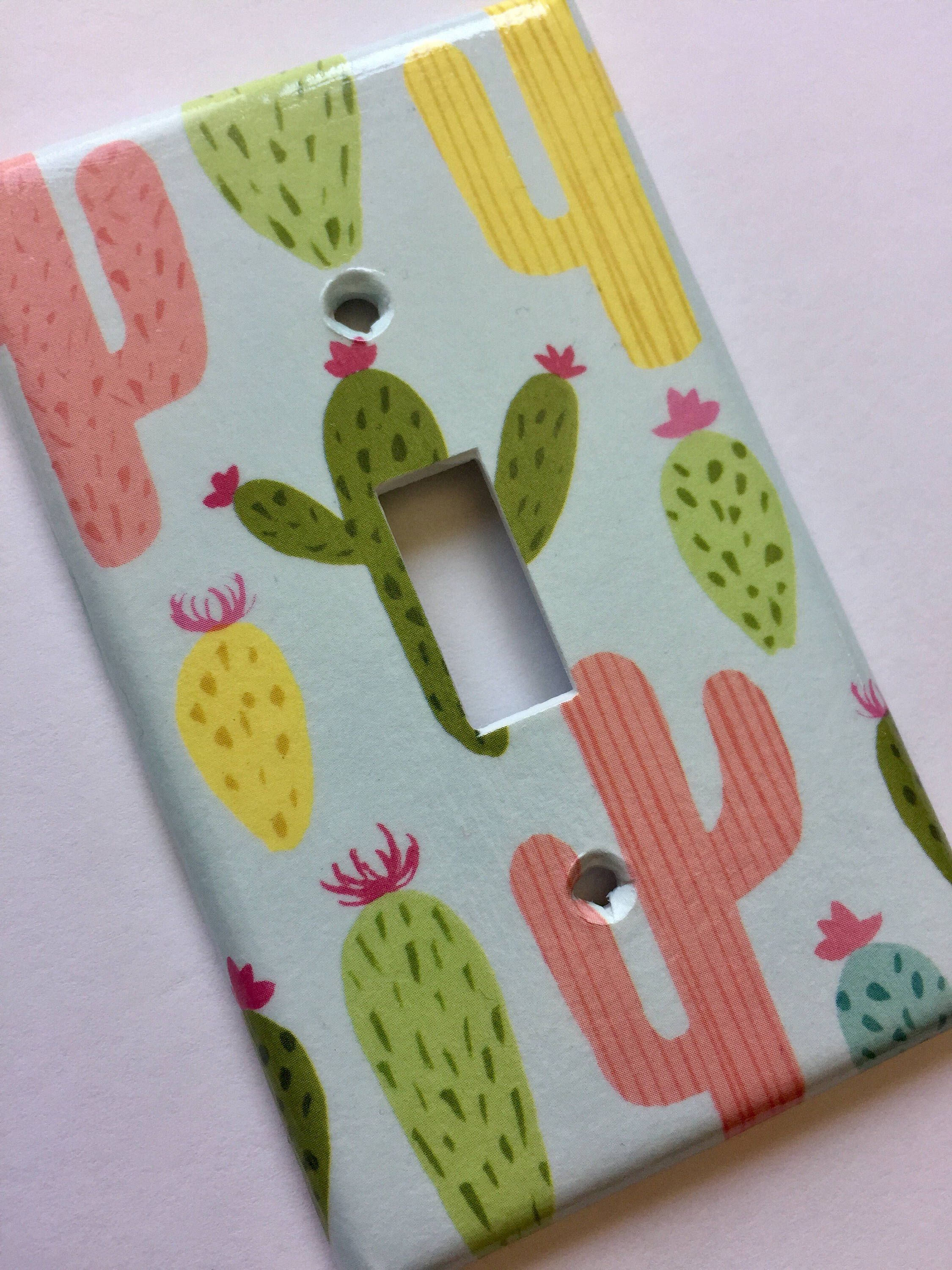 Cactus Decor, Light Switch Cover, Succulent Gift, Cactus Decor, Cactus Wall Art, Cactus Gift, Succulent Decor, Succulent Arrangement, Gift
