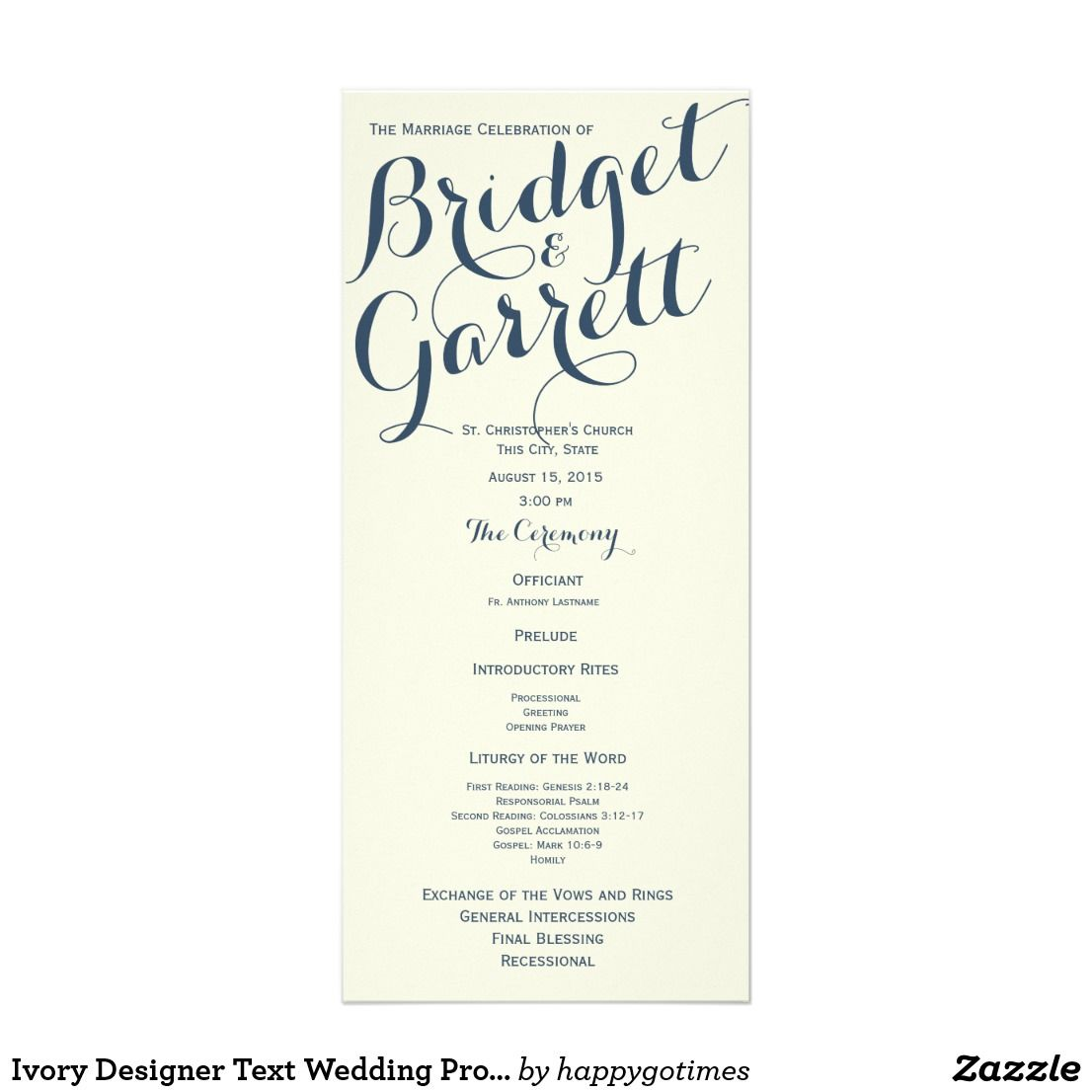 ivory designer text wedding program wedding programs pinterest