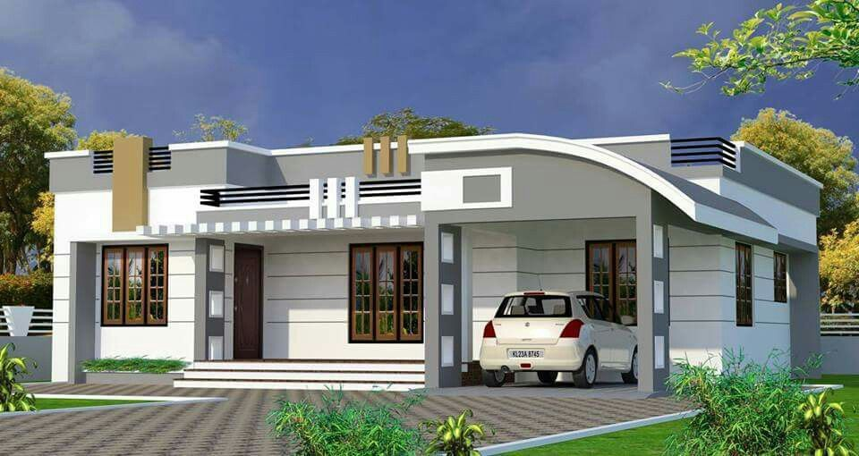 Single Storyed House Roof Design Single Floor House Design Bungalow House Design