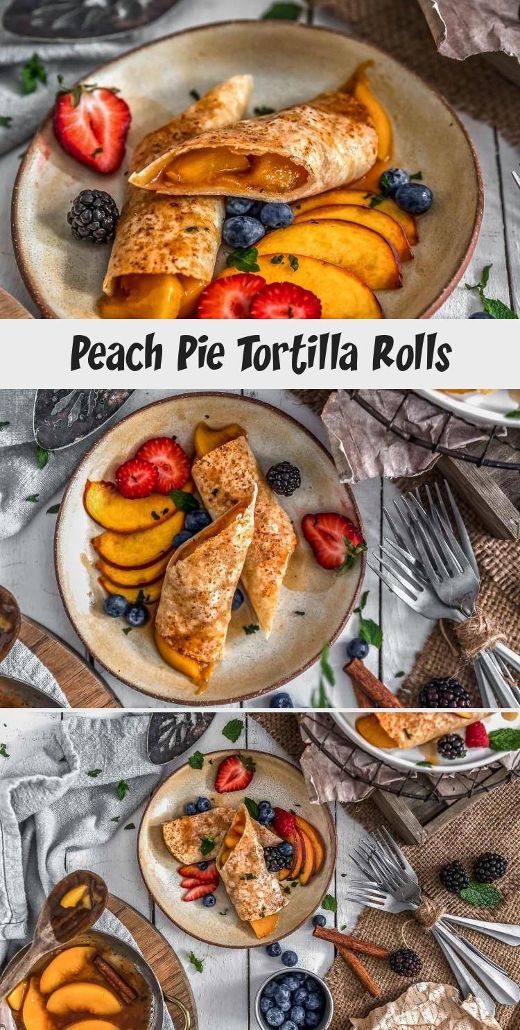 DELICIOUS Peach Pie Tortilla Rolls!