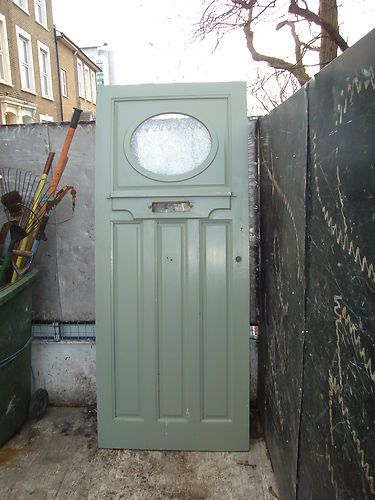 Front Door With Oval Window In Top 1930 S Ebay Front Door House Front Door Double Front Doors