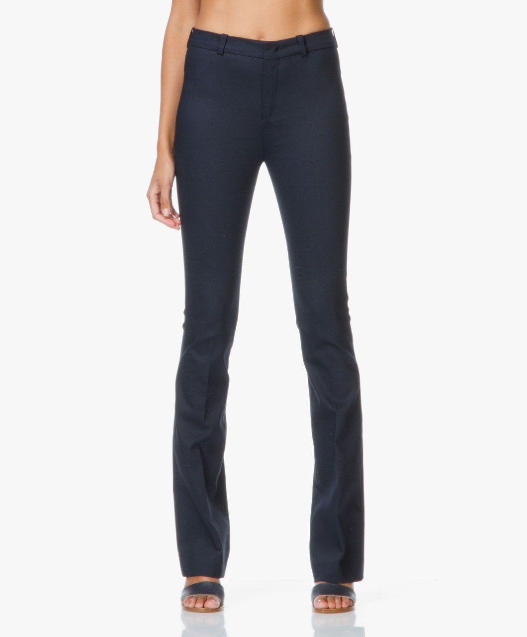 Drykorn Whip Flared Stretch Pantalon - Donkerblauw