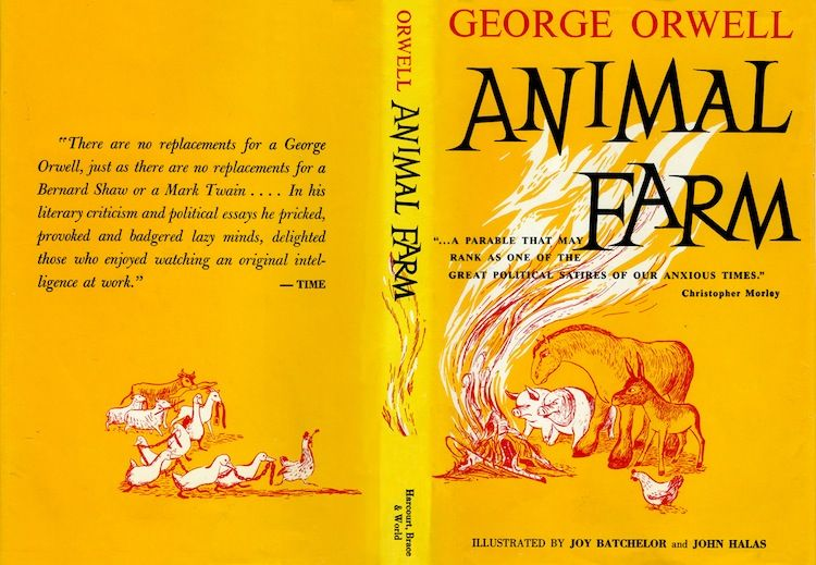 an overview of the animal farm as animal satire a novel by george orwell George orwell's 1945 novella, animal farm, is the story of an animal revolution the animal residents of manor farm, spurred on by the dream of the pig, old major, decide they will change their miserable, laborious, and short lives.