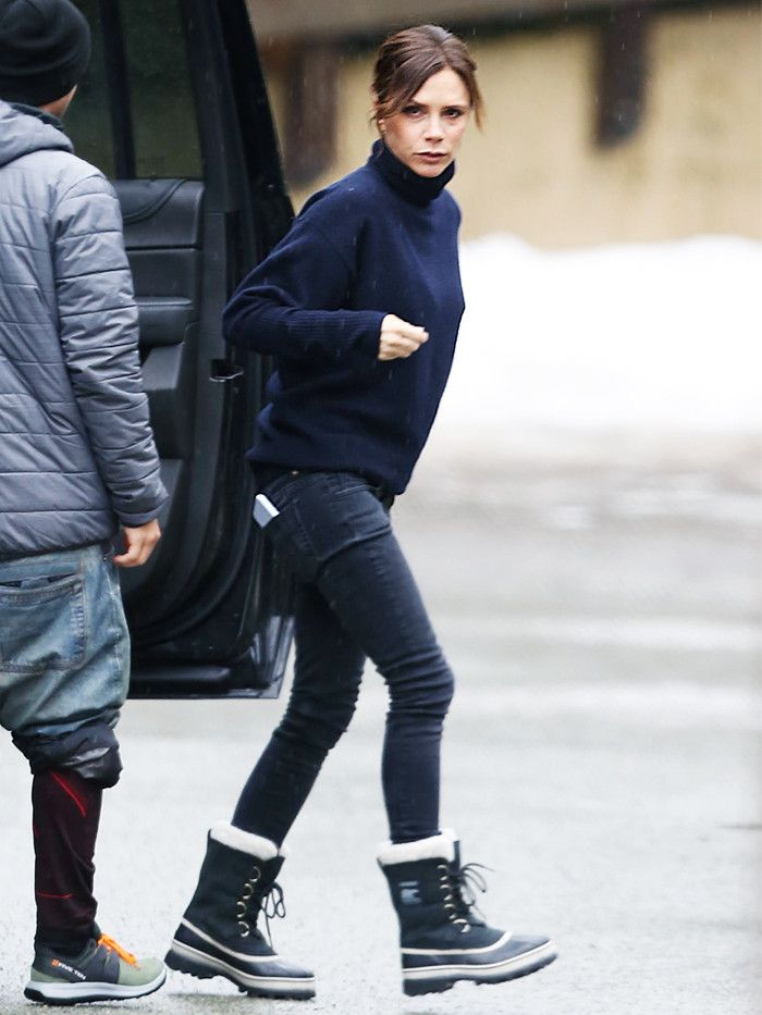 713c51998 Victoria Beckham Wore the Sorel Boots You'll Wear the Rest of Winter ...
