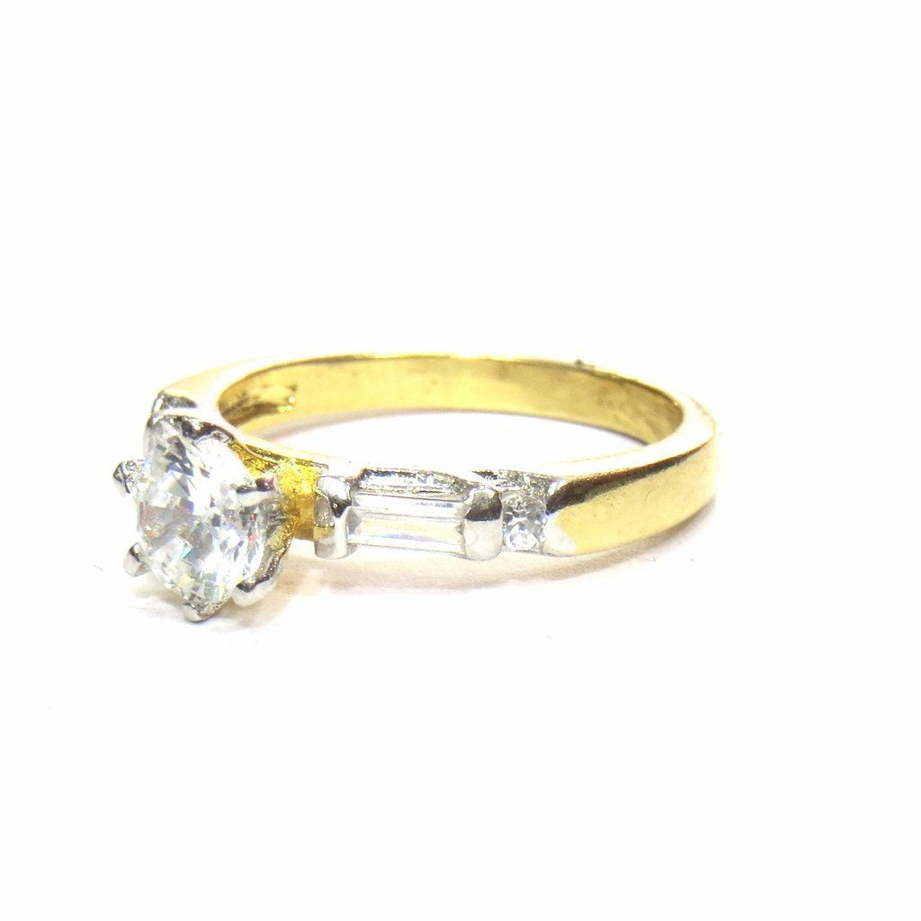 cb0025c94 Jewelshingar Jewellery White Gold Plated Solitaire American Diamond Ring  For Women 22317ring >>> Click on the image for additional details.