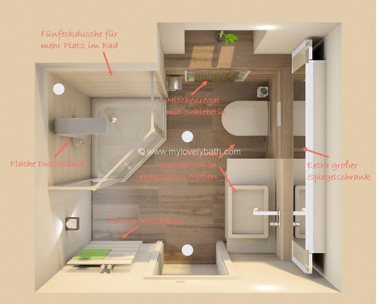 bad ideen in 2020   Kleine badezimmer, Badezimmer planen ...