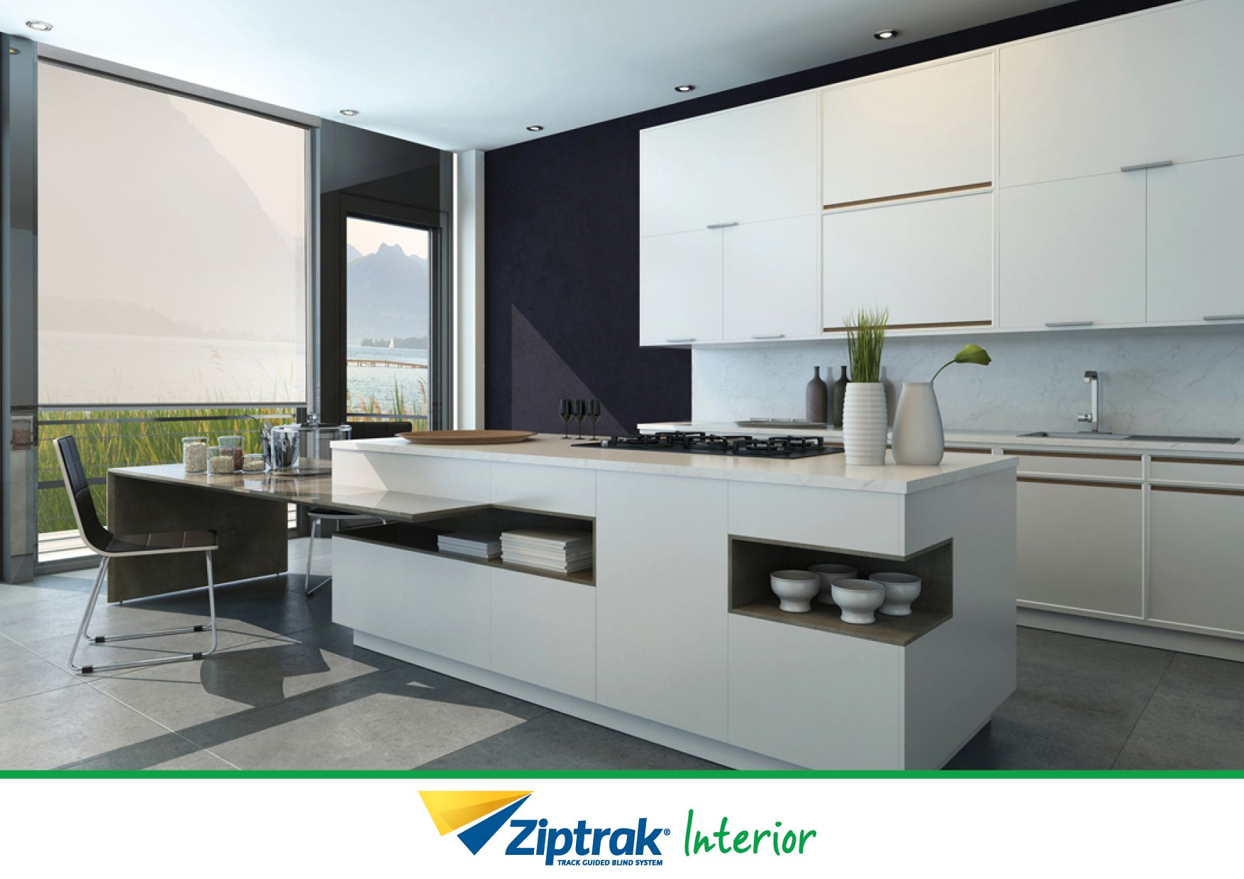 Ziptrak track guided interior blinds are a family friendly solution