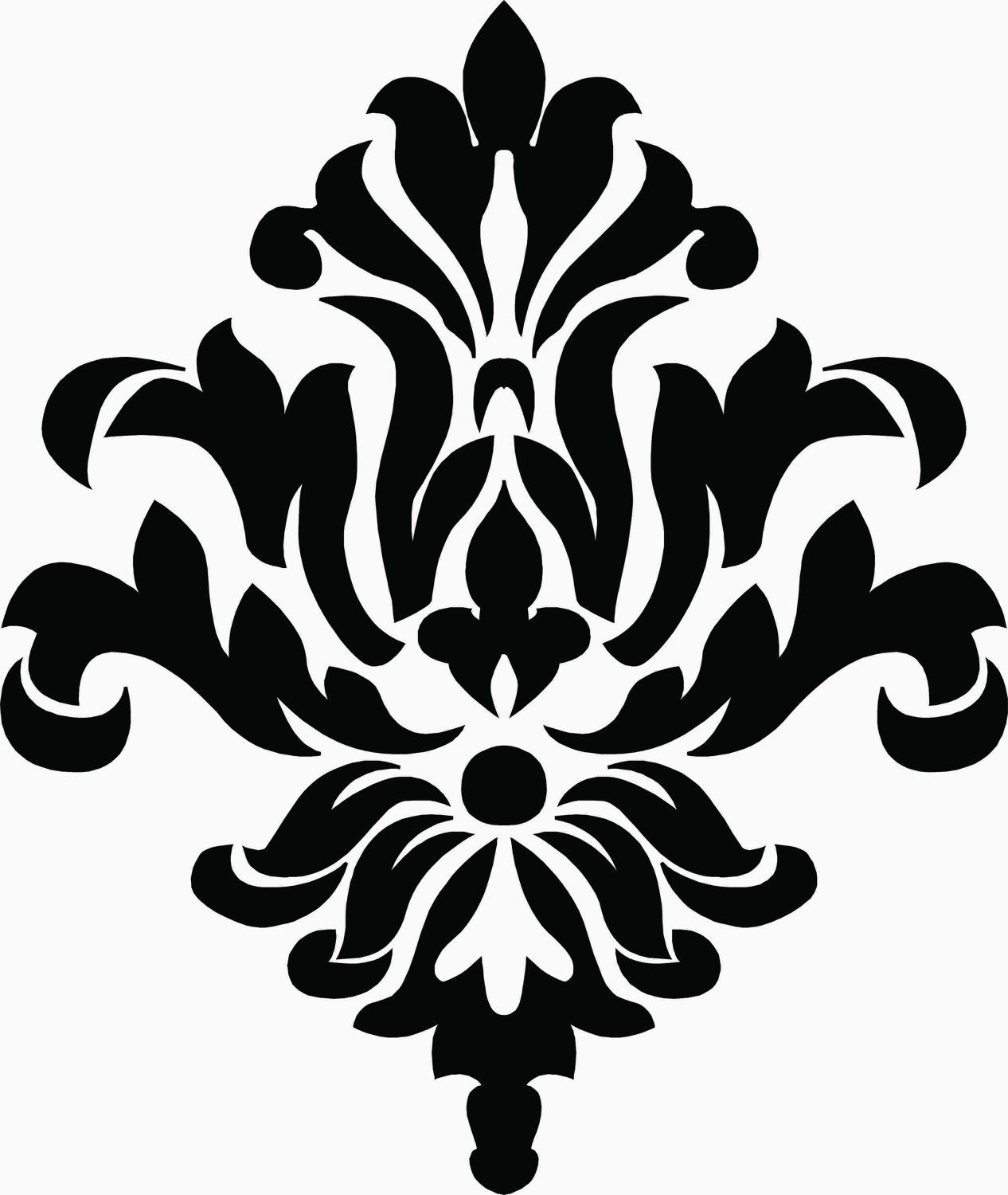 Damask wall decal free shipping 1499 via etsy our apartment clipart of a pink victorian floral damask design element 2 royalty free vector illustration by bestvector amipublicfo Gallery