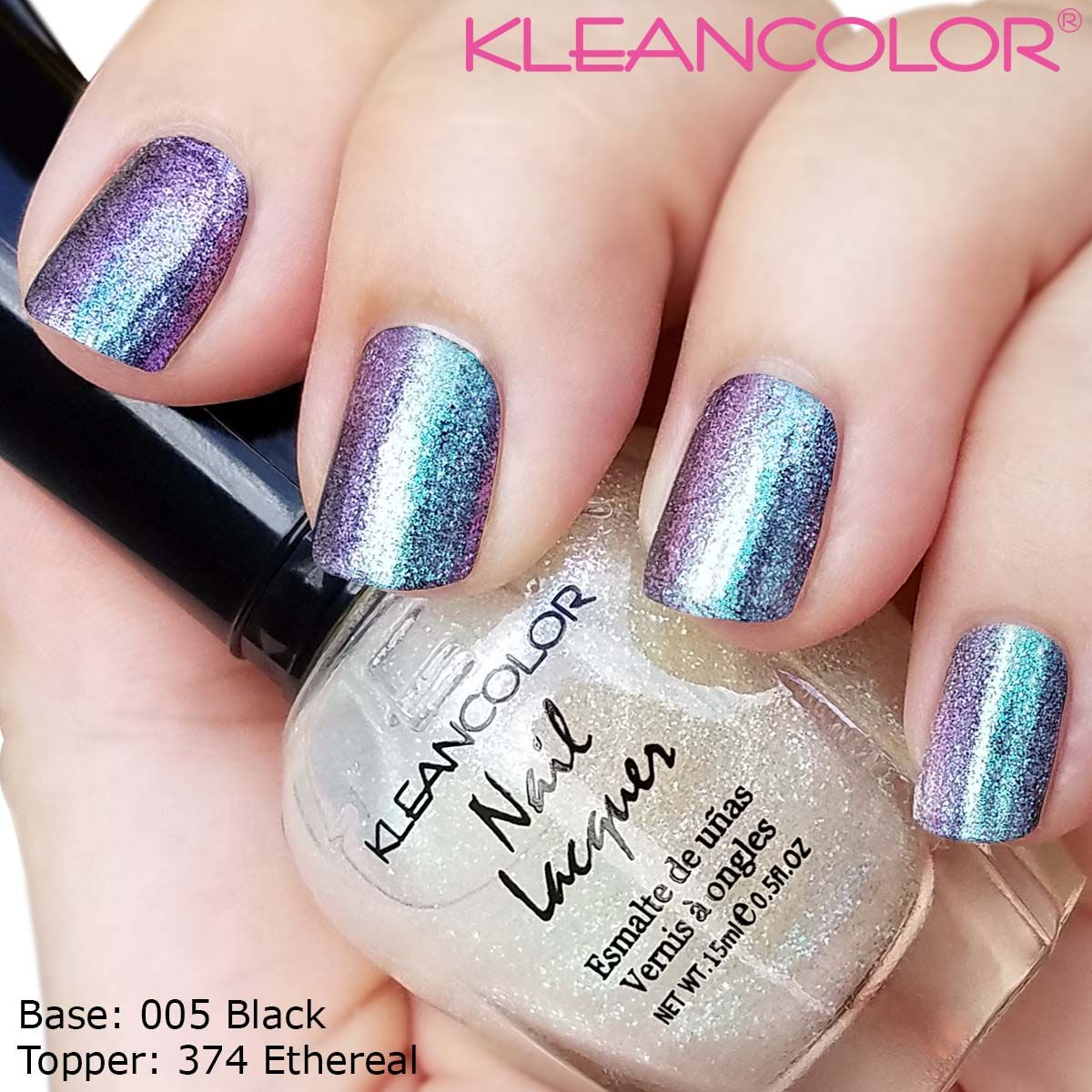 Holographic Topper in Ethereal (374) shown here over Nail Lacquer in ...