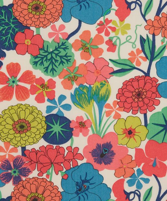 Liberty Art Fabrics Arrow D Tana Lawn Cotton EDITOR'S NOTES Arrow Liberty fabric is a hand drawn print whose central flower the nasturtium symbolises patriotism and conquest. Crocus, geranium, sweet pea and zinnia adorn the remaining areas of the design symbolising cheerfulness, comfort, departure and goodness.