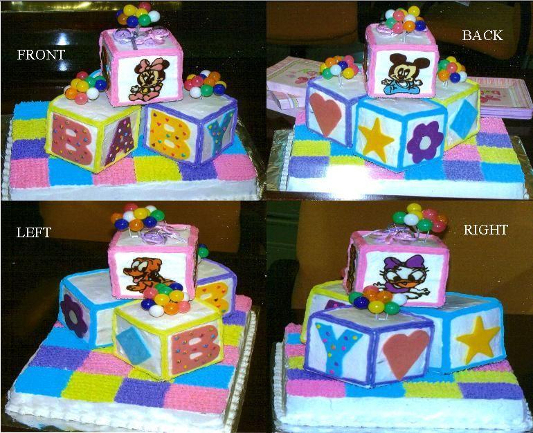 Disney+baby+cakes   Disney Baby Shower